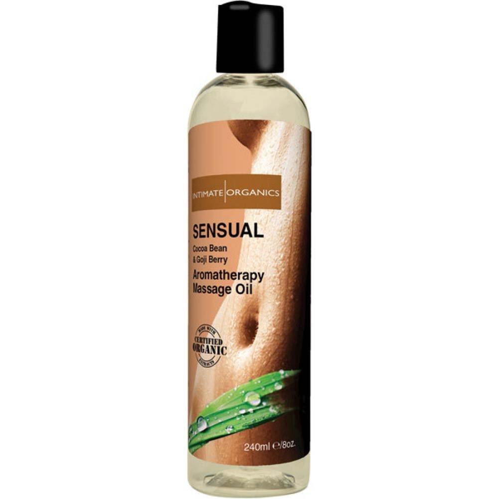Intimate Organics Sensual Aromatherapy Massage Oil 8 Fl.Oz Cocoa Bean and Goji Berry - View #2