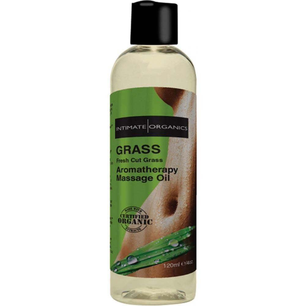 Intimate Organics Grass Aromatherapy Massage Oil 4 Fl.Oz Fresh Grass - View #1