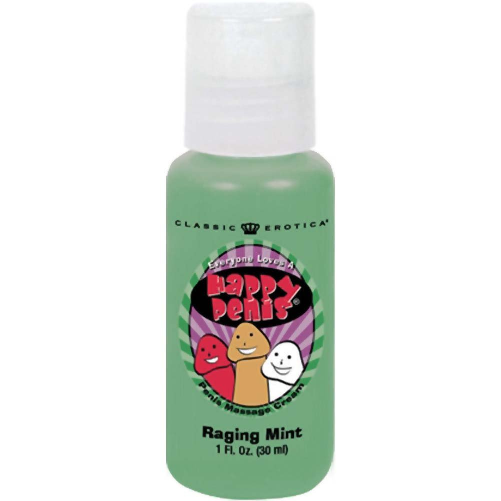 Happy Penis Massage Cream 1 Fl.Oz Raging Mint - View #1