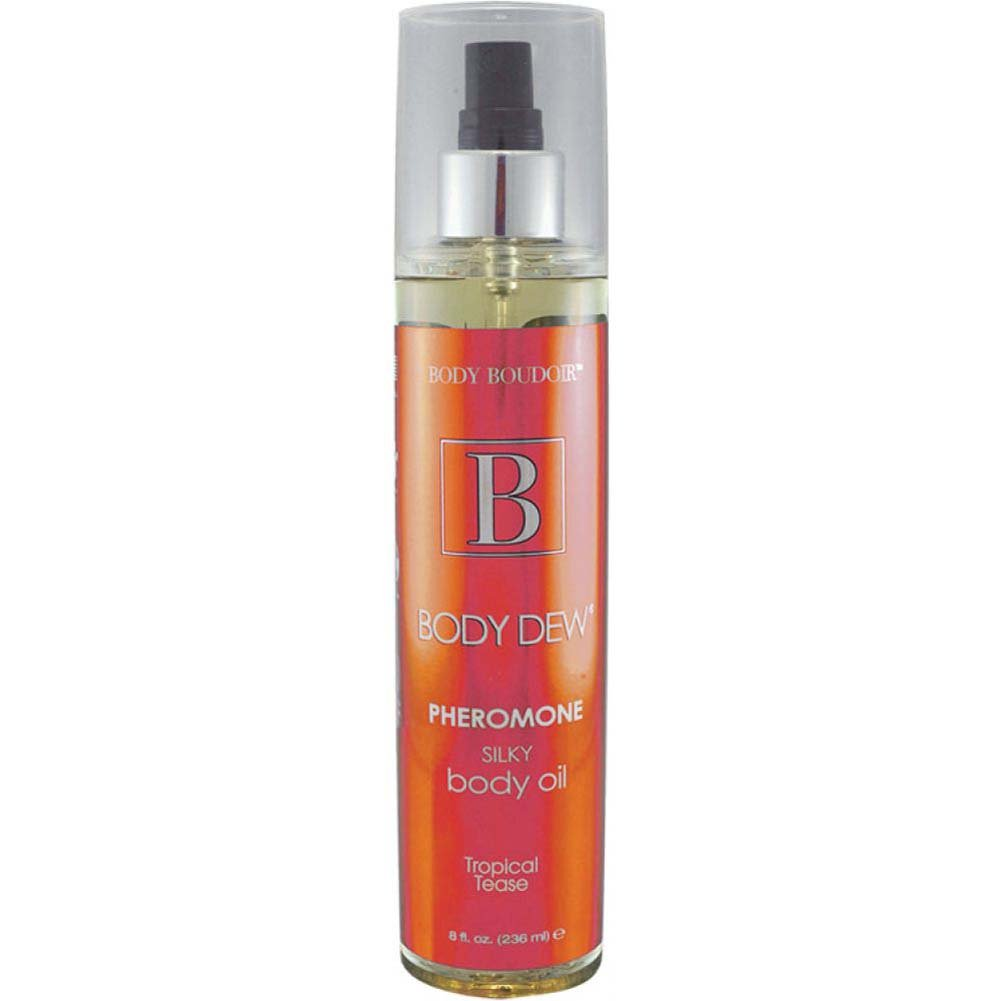 Body Dew Pheromone Silky Body Oil 8 Fl.Oz 237 mL Tropical Tease - View #1