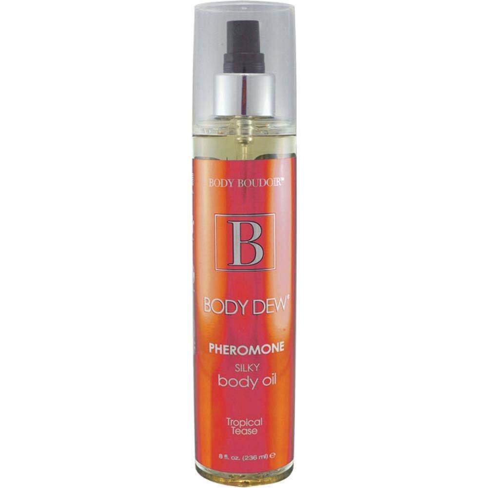 Body Dew Pheromone Silky Body Oil 8 Fl.Oz Tropical Tease - View #1
