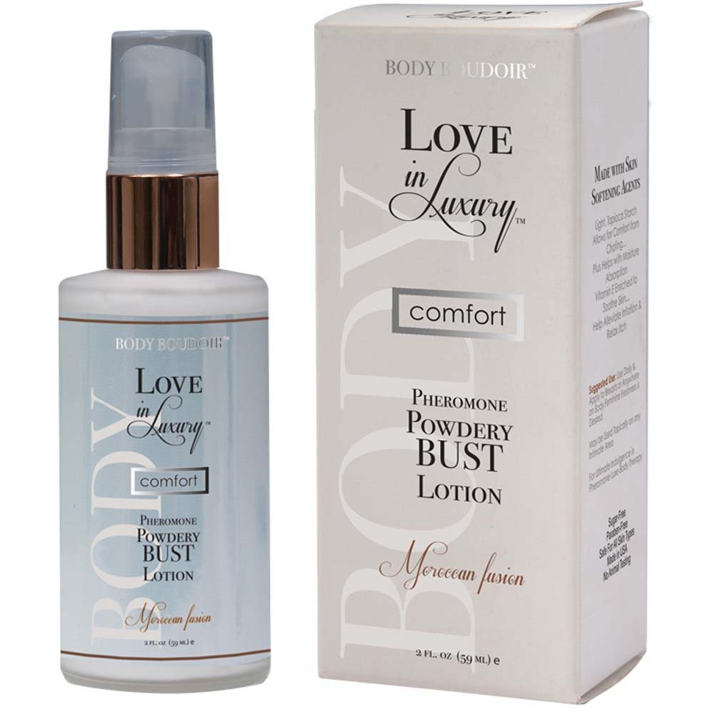 Love In Luxury Pheromone Powdery Bust Lotion 2 Fl.Oz Moroccan Fusion Boxed - View #1