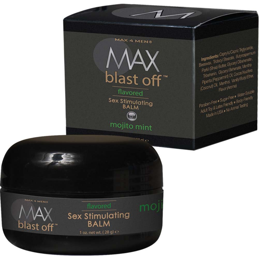 Max 4 Men Blast Off Sex Stimulating Balm - 1 Oz Mojito Mint Boxed - View #2