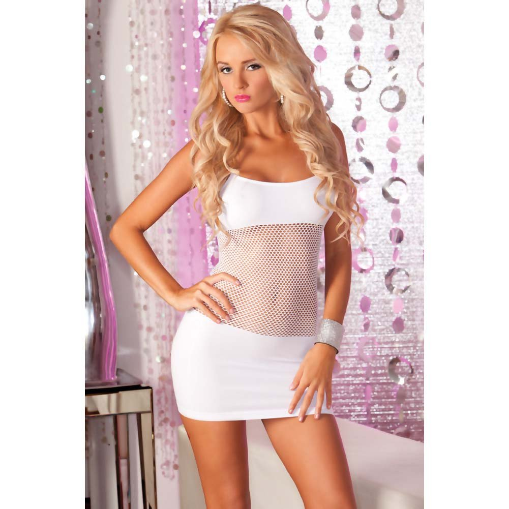 Pink Lipstick Adrenaline Seamless Net Dress One Size White - View #2