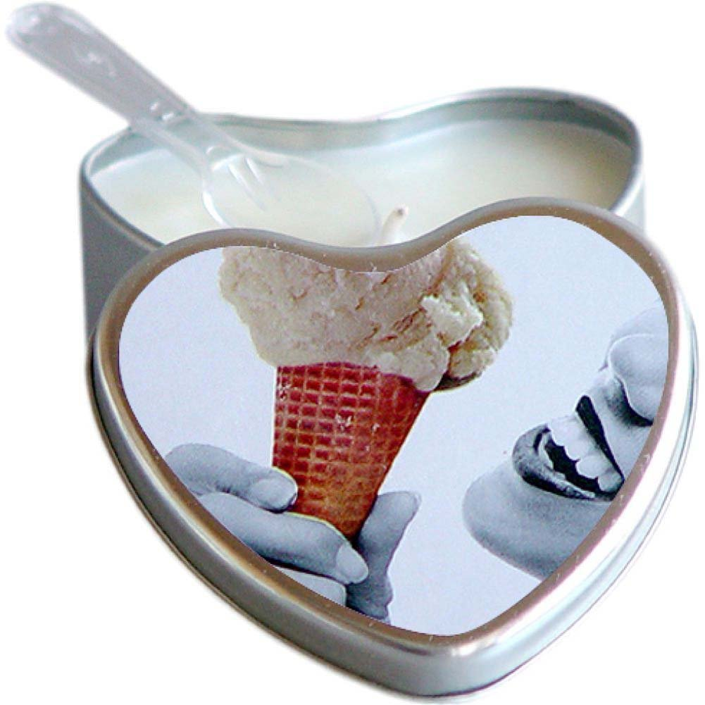 Earthly Body Suntouched Hemp Edible Candle 4.7 Oz Heart Tin Vanilla Ice Cream - View #1