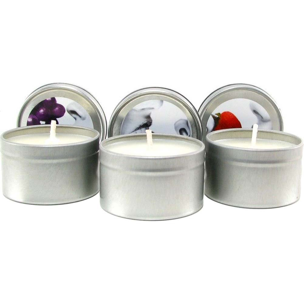 Earthly Body Edible Candle Threesome Gift Set Assorted Flavors Bag of 3 Candles - View #1