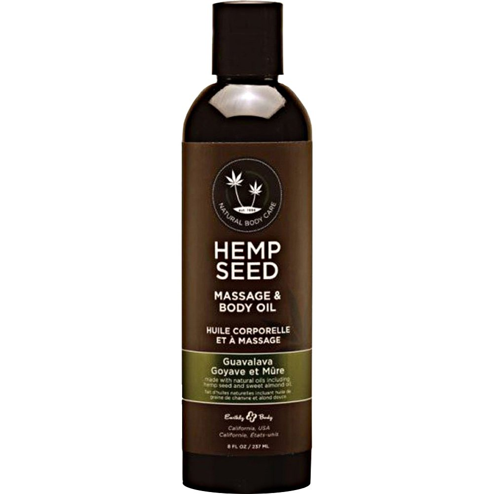 Earthly Body Hemp Seed Massage and Body Oil 8 Fl.Oz 237 mL Guavalava - View #1