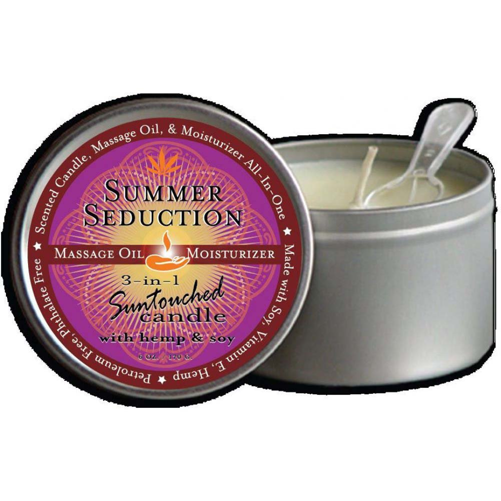 Earthly Body Summer Seduction 3-in-1 Suntouched Fragrant Candle With Hemp 6 Oz. - View #2