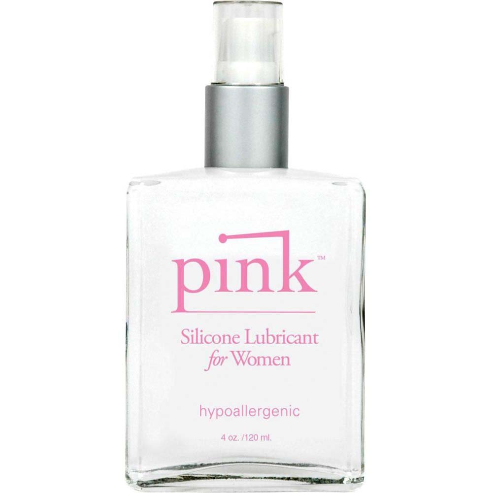 Pink Silicone Personal Lubricant for Women 4 Fl.Oz Glass Bottle - View #2