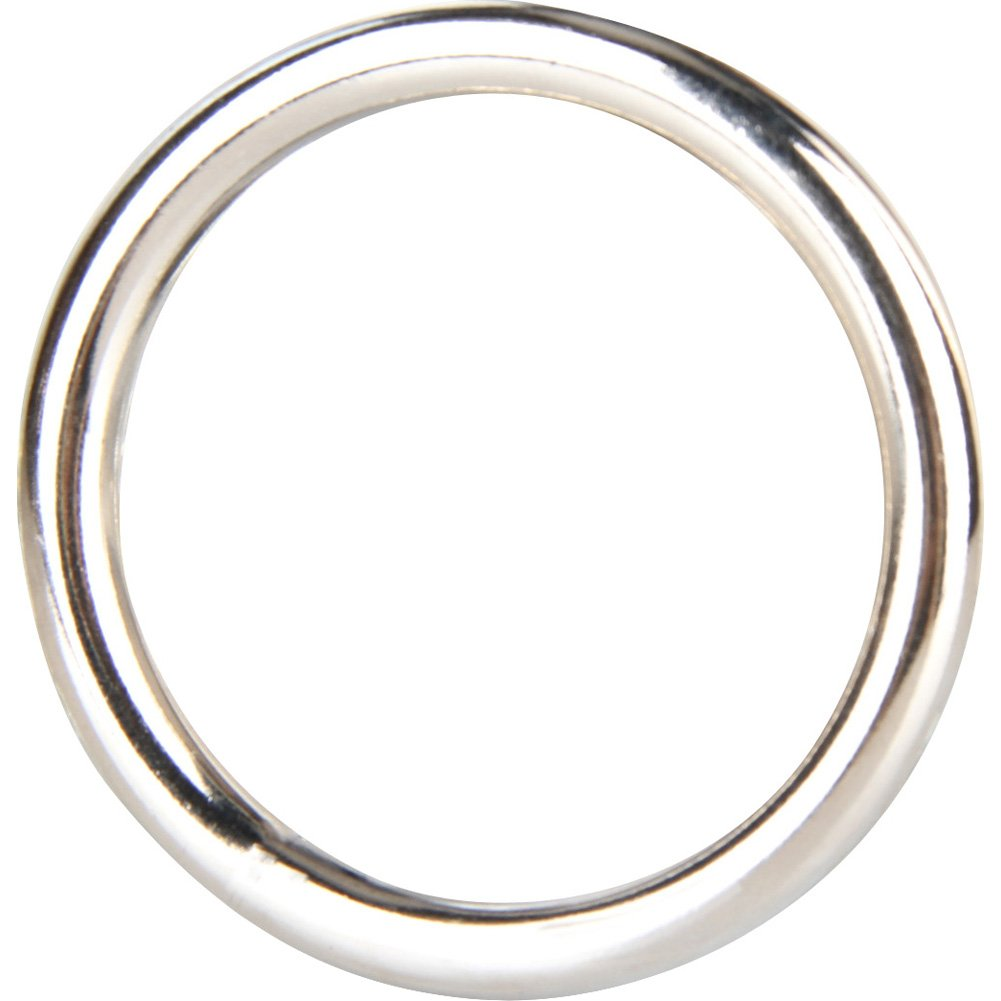 "Blue Line C and B Gear Steel Cock Ring 1.3"" Silver - View #1"