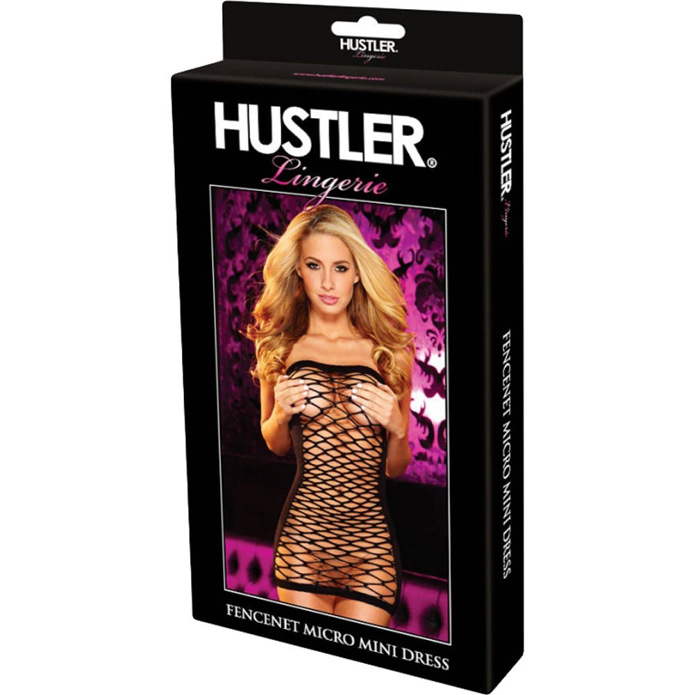 Hustler Fencenet Micro Mini Dress One Size Black - View #4