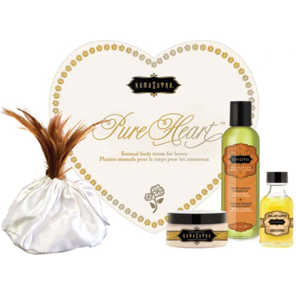 Kama Sutra Pure Heart Massage Kit for Lovers Vanilla - View #1