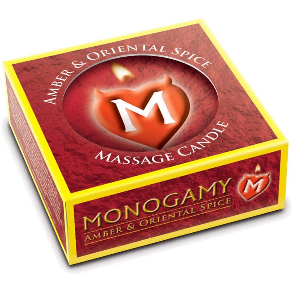 Monogamy Small Massage CandleSteamy Amber And Oriental - View #1