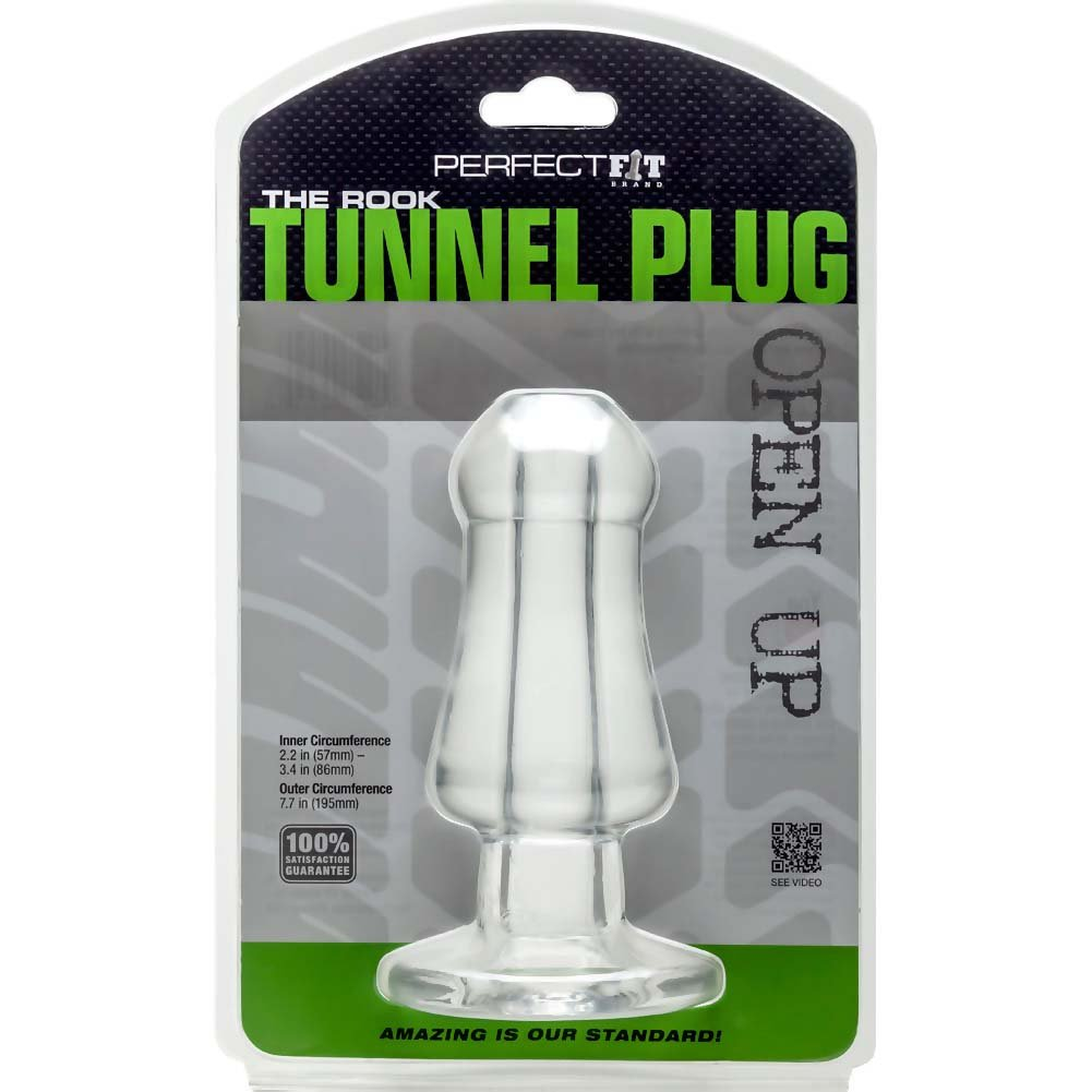 "Perfect Fit Rook Tunnel Plug 7.5"" Clear - View #3"