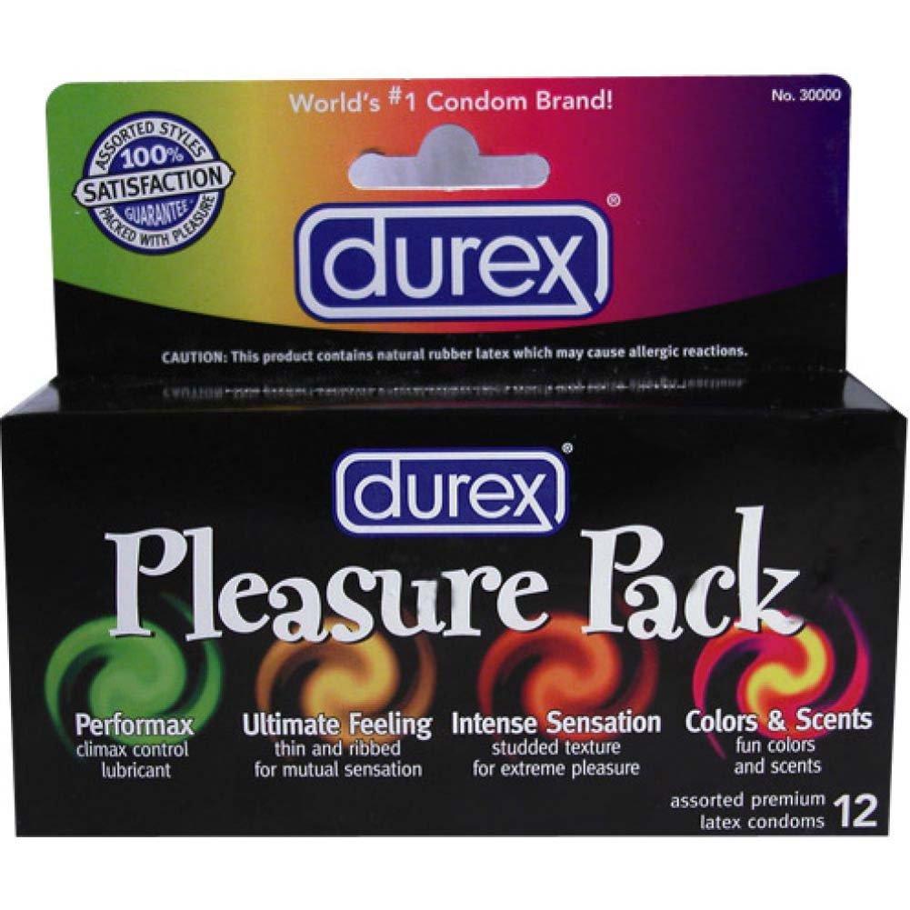 Durex Pleasure Pack Lubricated Condoms 12 Pack - View #1