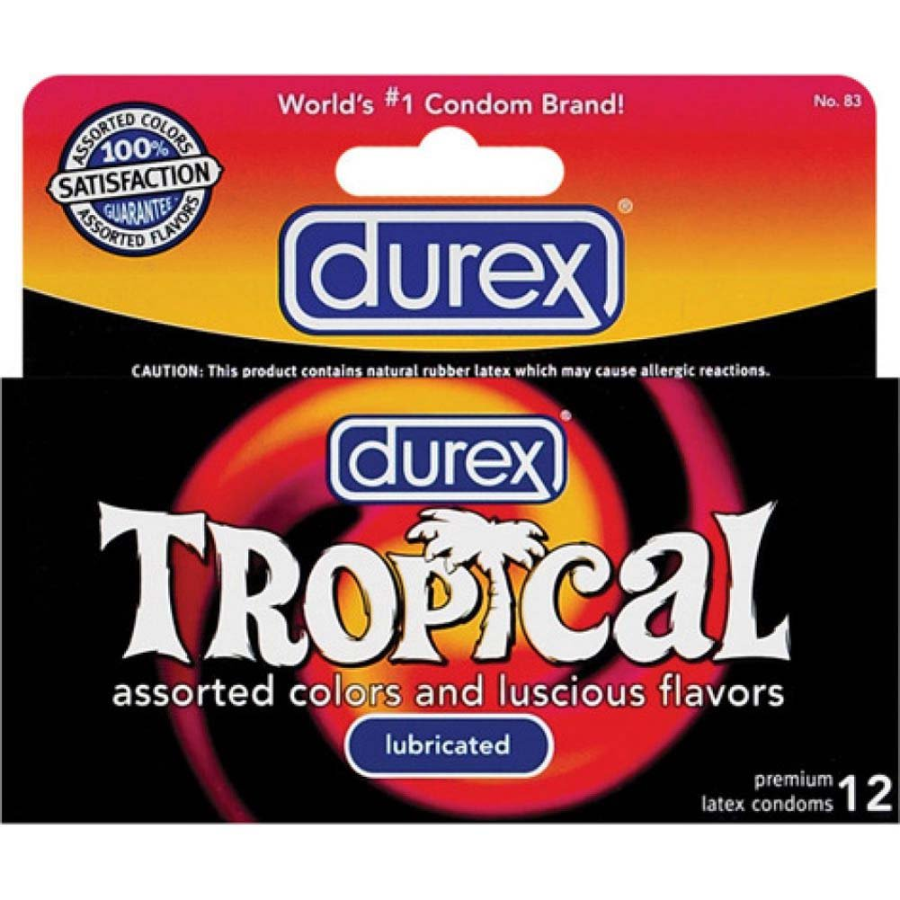 Durex Tropical Assorted Colors Condoms 12 Pack - View #1