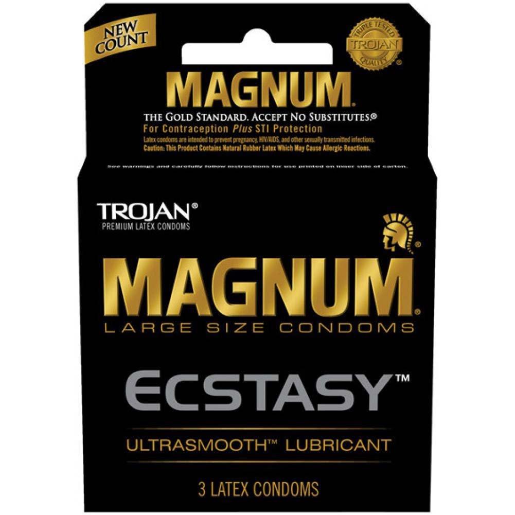 Trojan Magnum Ecstasy Lubricated Condoms 3 Pack - View #1