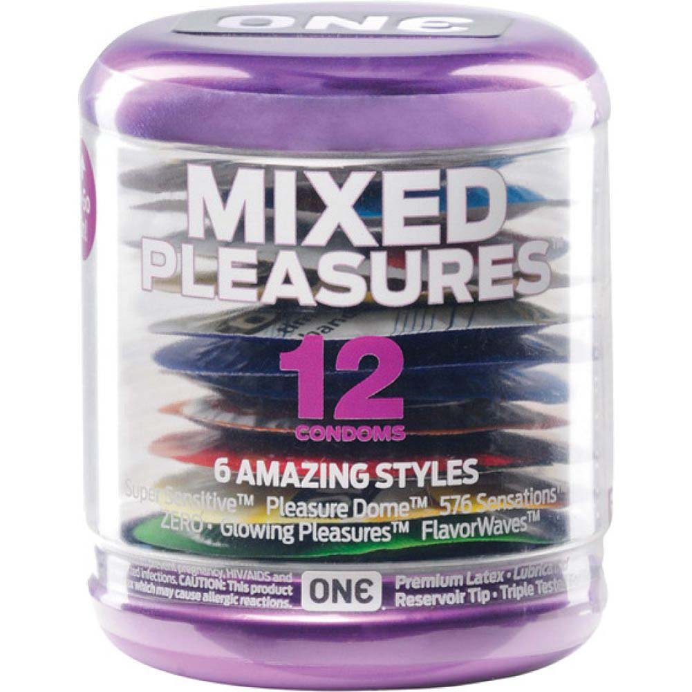 ONE Mixed Pleasures Latex Condoms 12 Pack - View #1