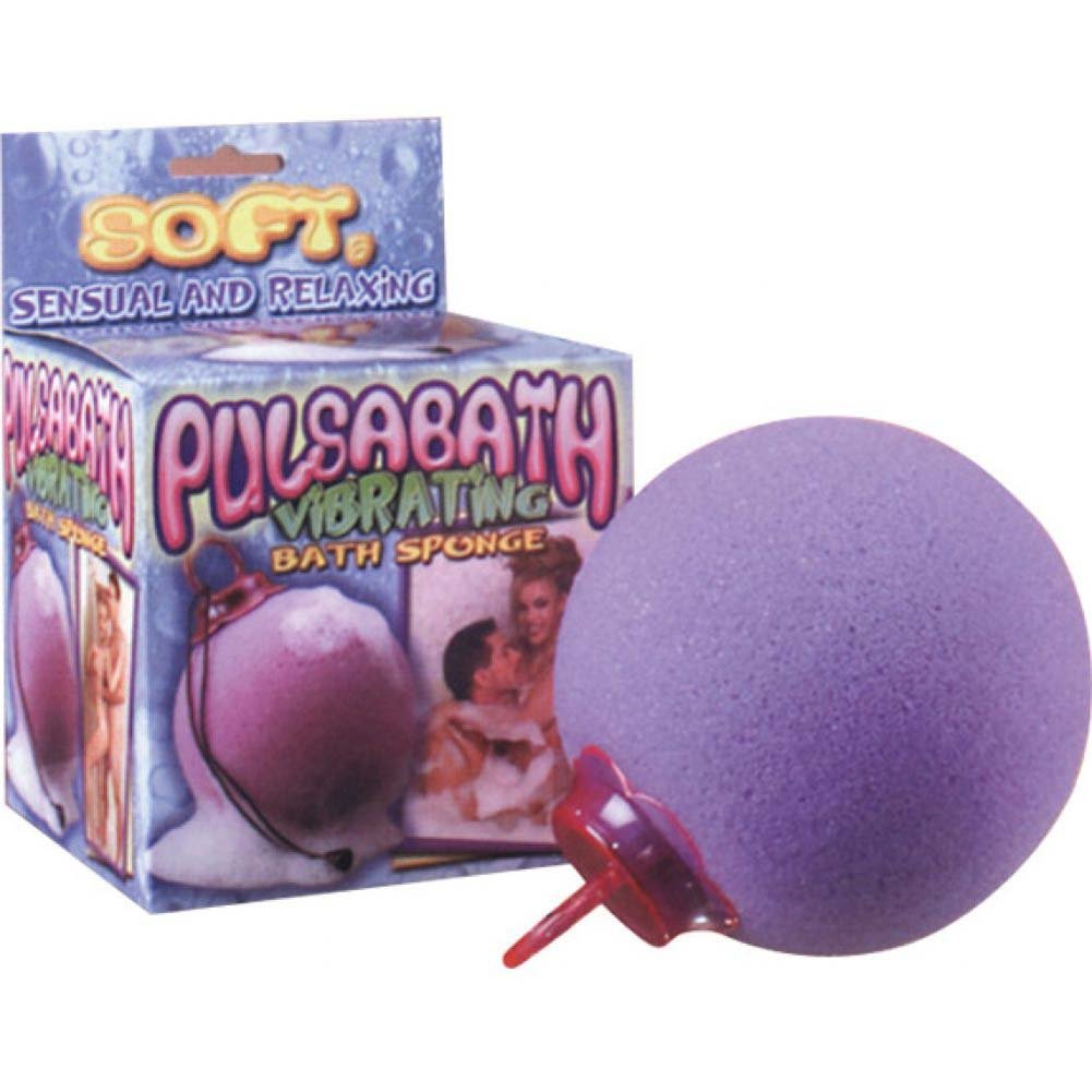 Pulsabath Vibrating Bath Sponge Purple - View #1