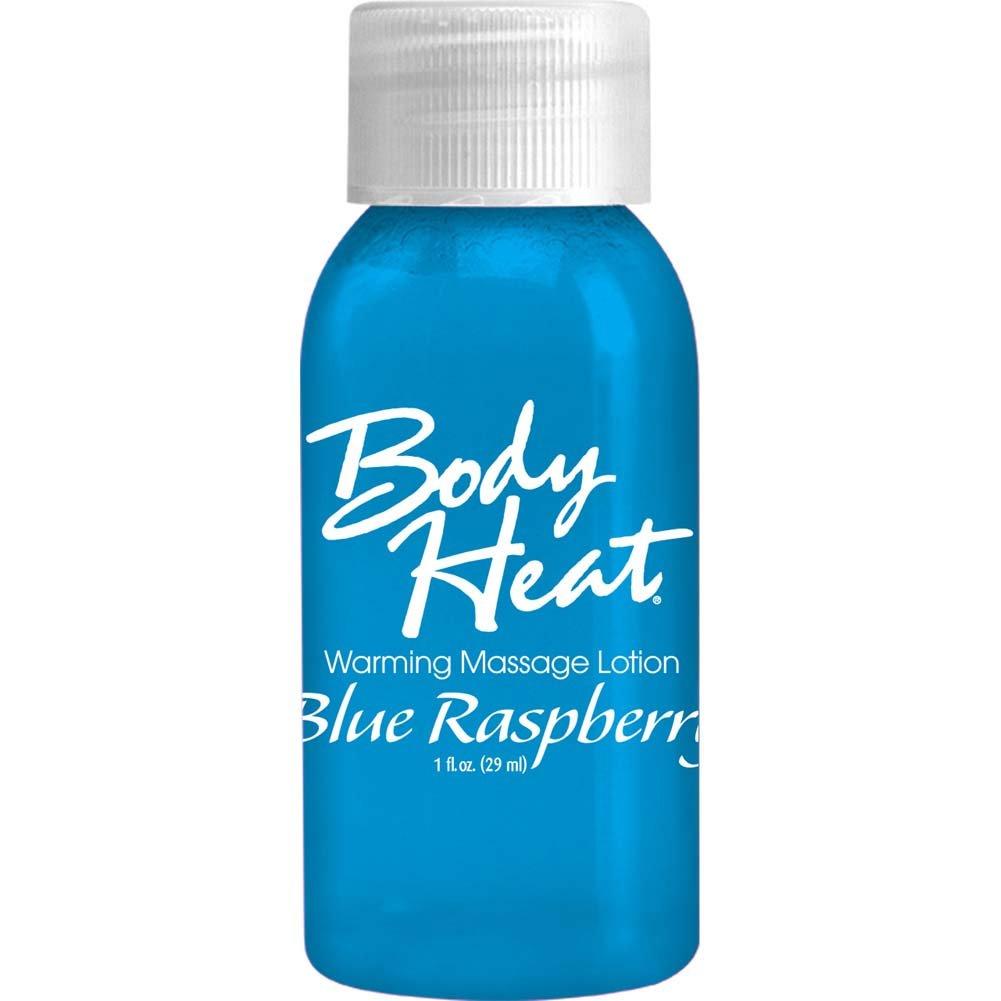 Body Heart Warming Massage Lotion Blue Raspberry 1 Oz - View #1