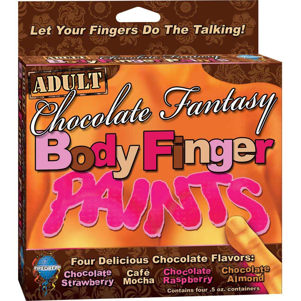 Chocolate Fantasy Body Finger Paint Box of 4 Flavors - View #1