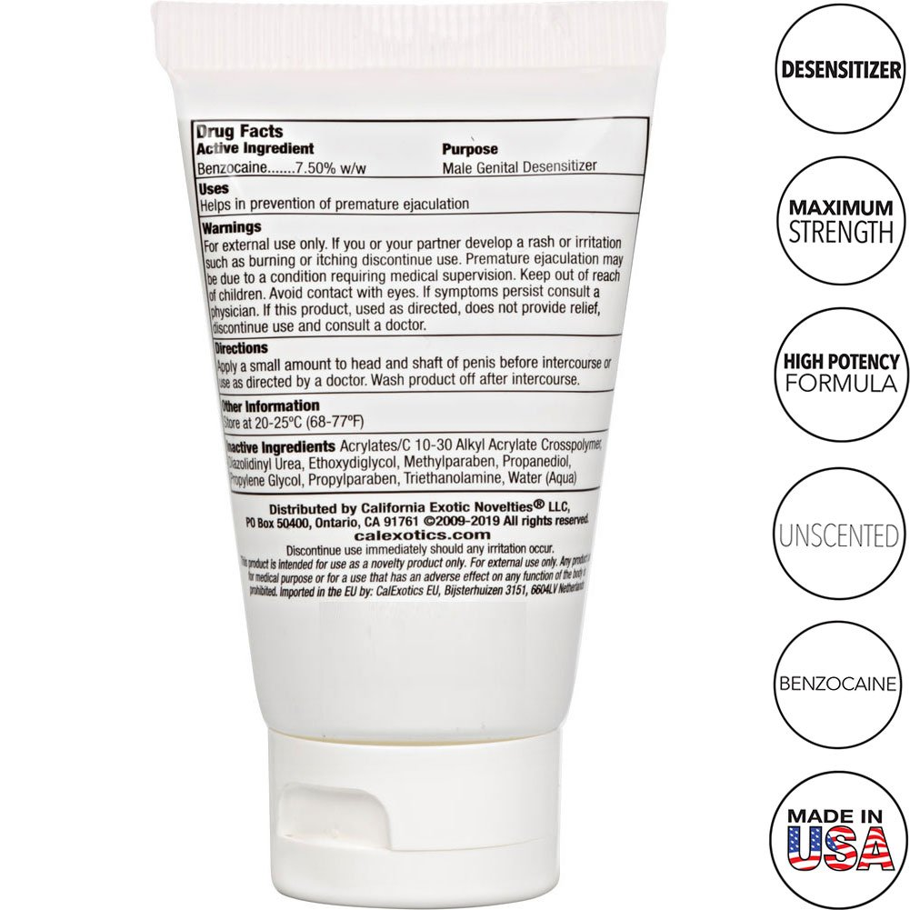 California Exotic Novelties Sta-Hard Cream for Men 1.5 Fl.Oz 45 mL Tube - View #1