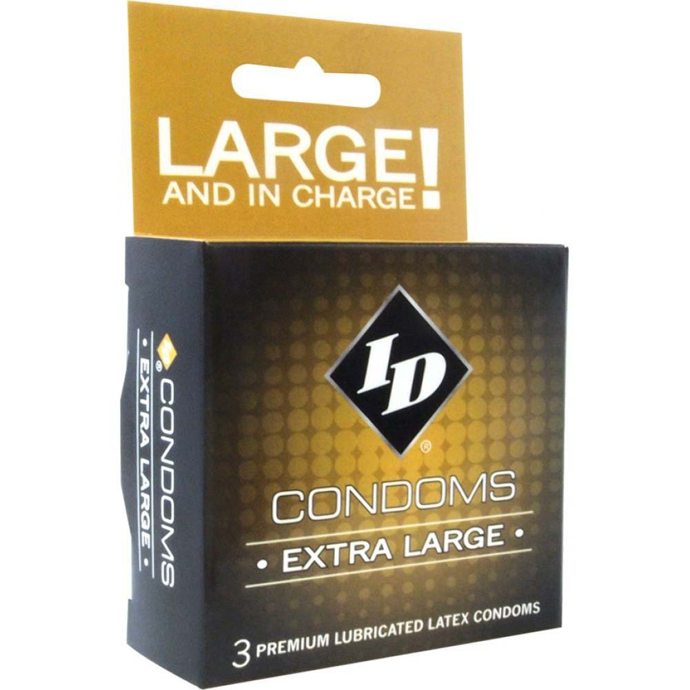 ID Extra Large Condoms 3 Pack - View #1