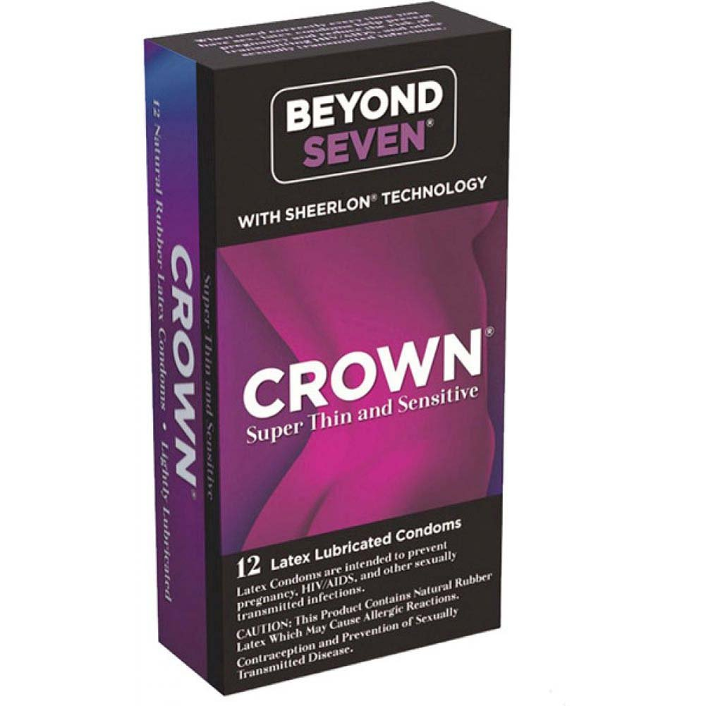Beyond Seven Crown Lubricated Condoms Box of 12 - View #1