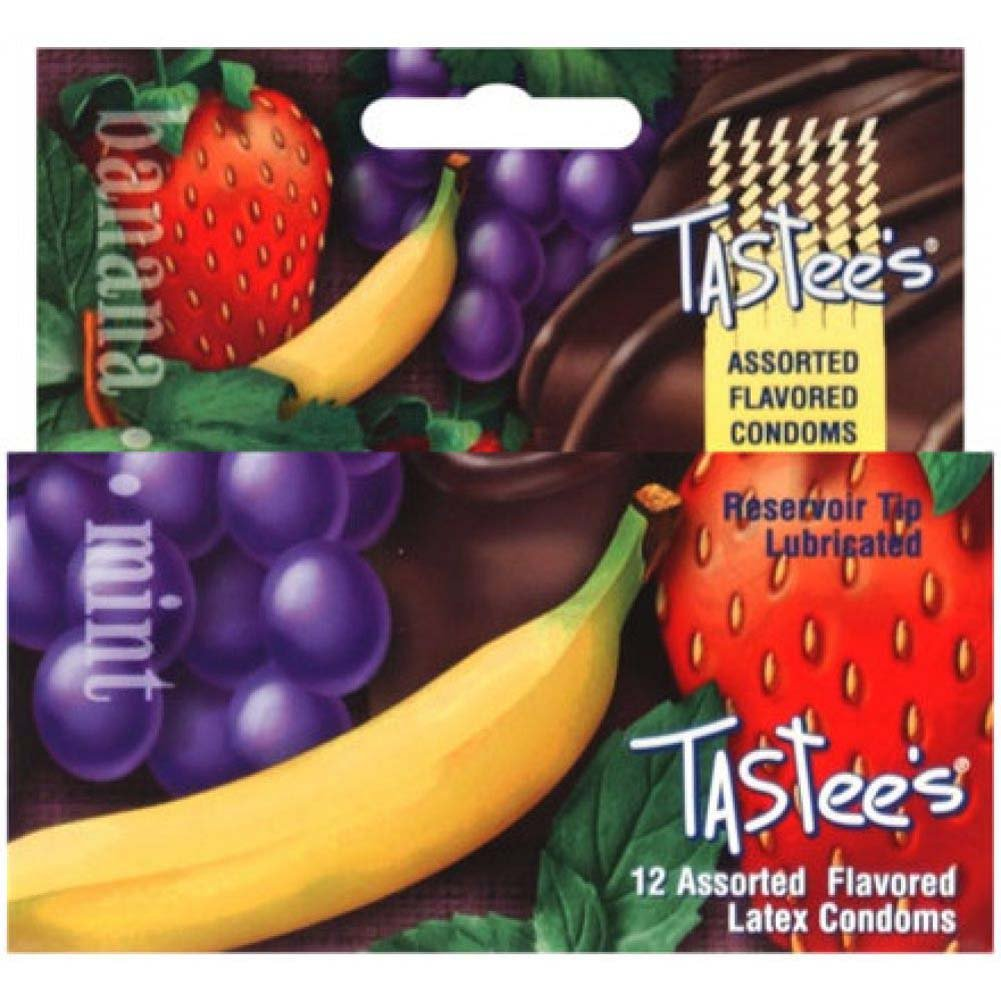 Tastees Flavored Latex Condoms Assorted 12 Pack - View #1