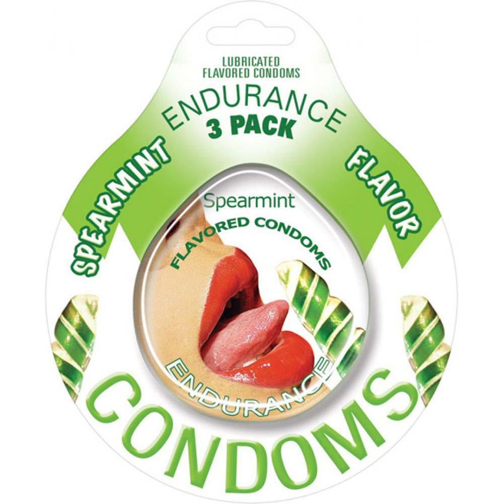Endurance Flavored Condom 3 Pack Spearmint - View #1