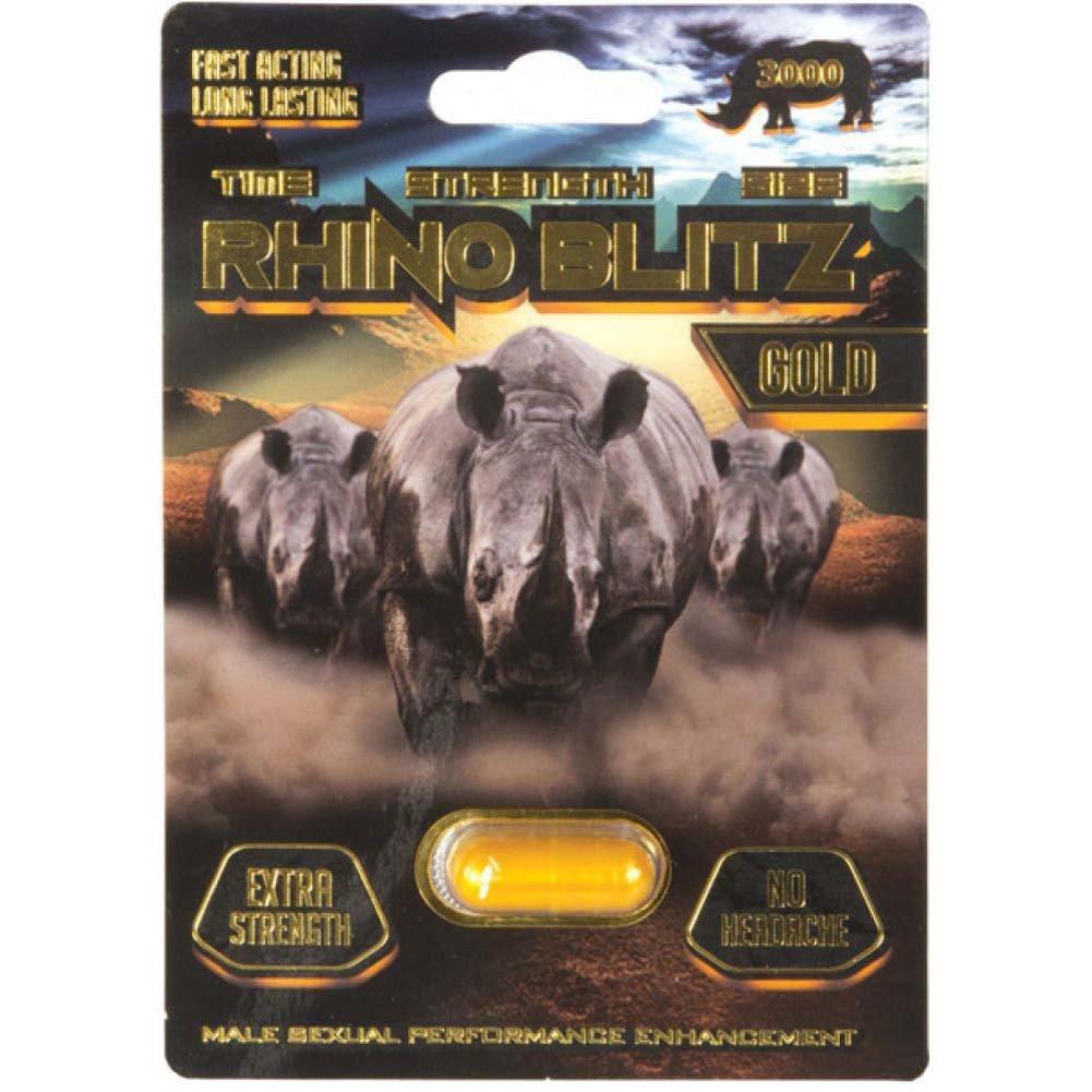 Rhino Blitz Gold Male Sexual Enhancement Pill 1 Capsule Blister - View #1