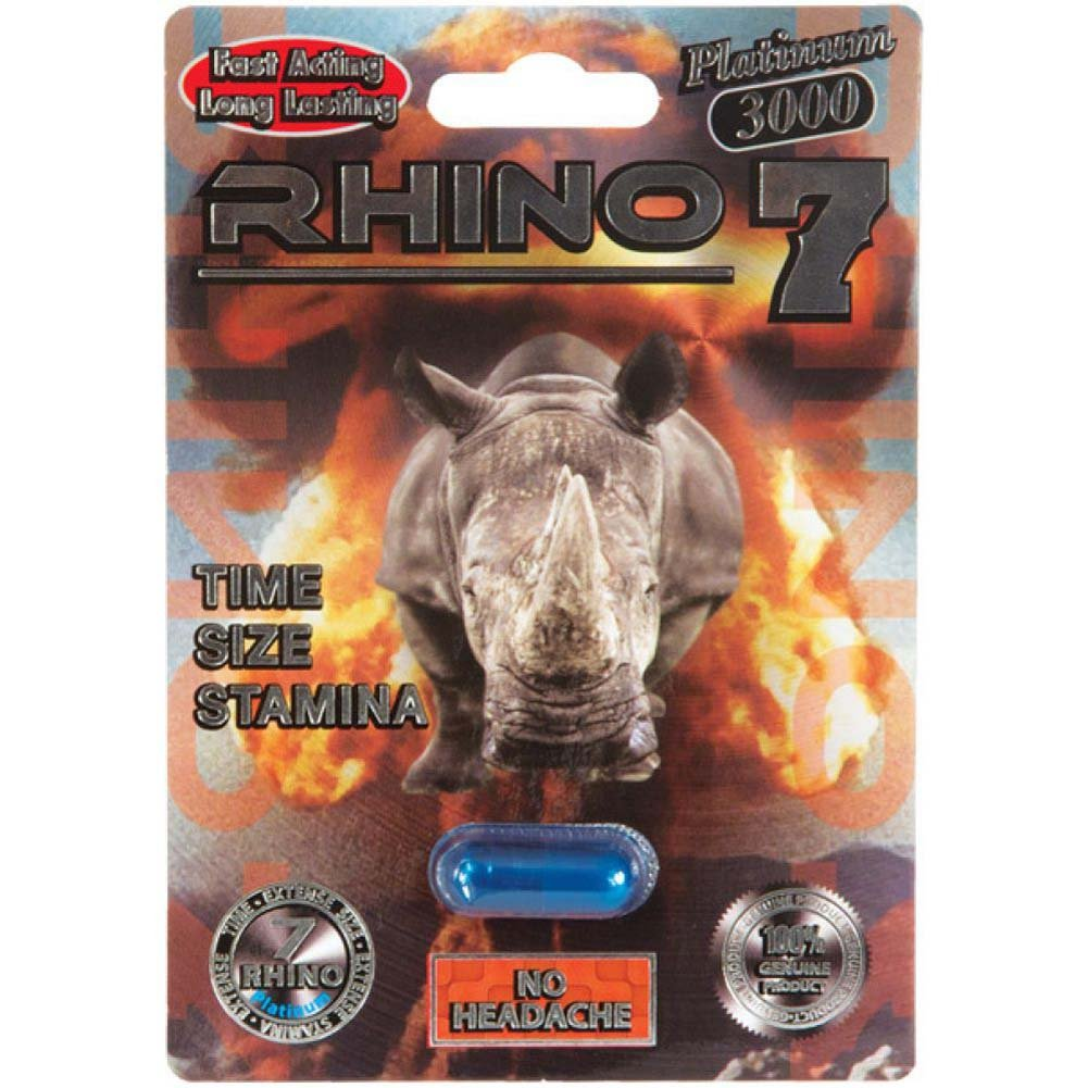 Rhino 7 Platinum 3000 Male Sexual Enhancement Pill 1 Capsule Blister - View #1