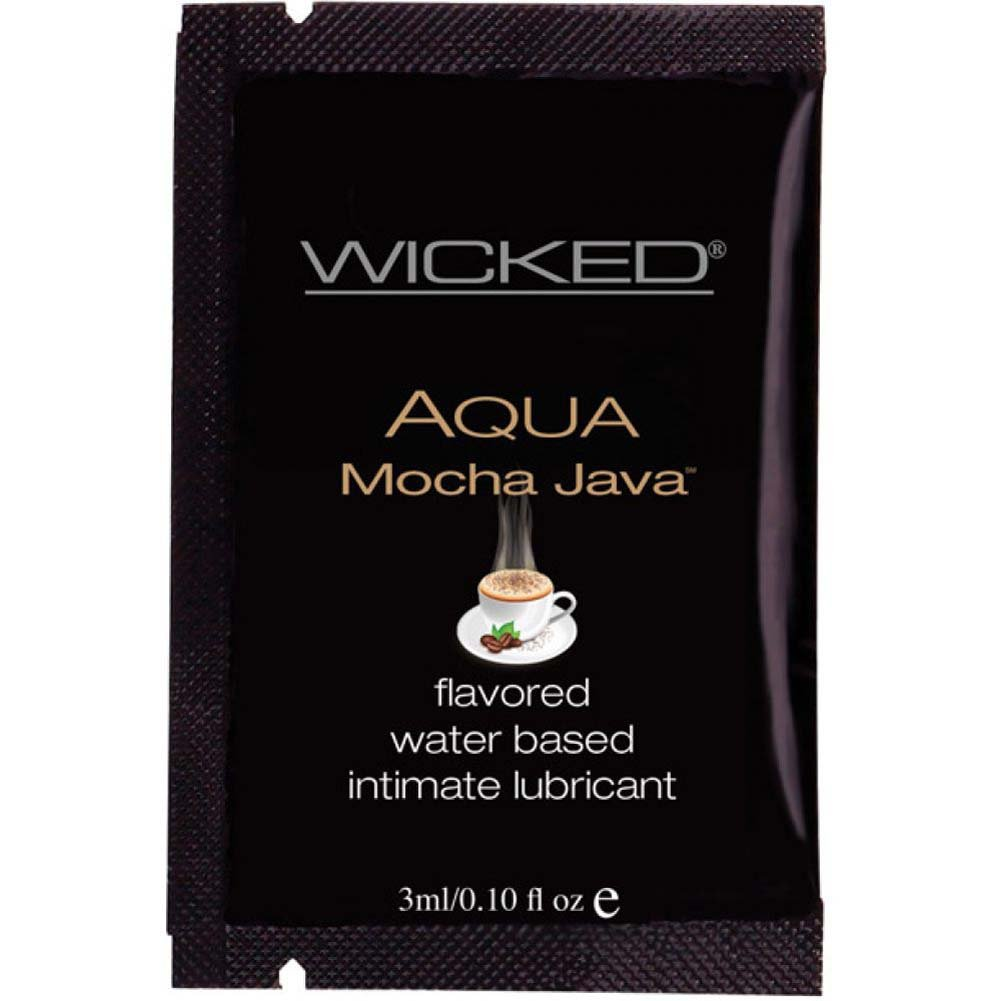 Wicked Sensual Care Collection Aqua Waterbased Lubricant 3 Ml Mocha Java - View #1