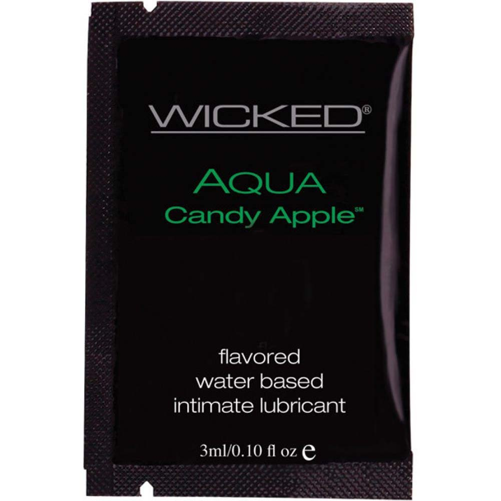 Wicked Sensual Care Collection Aqua Waterbased Lubricant 3 Ml Candy Apple - View #1