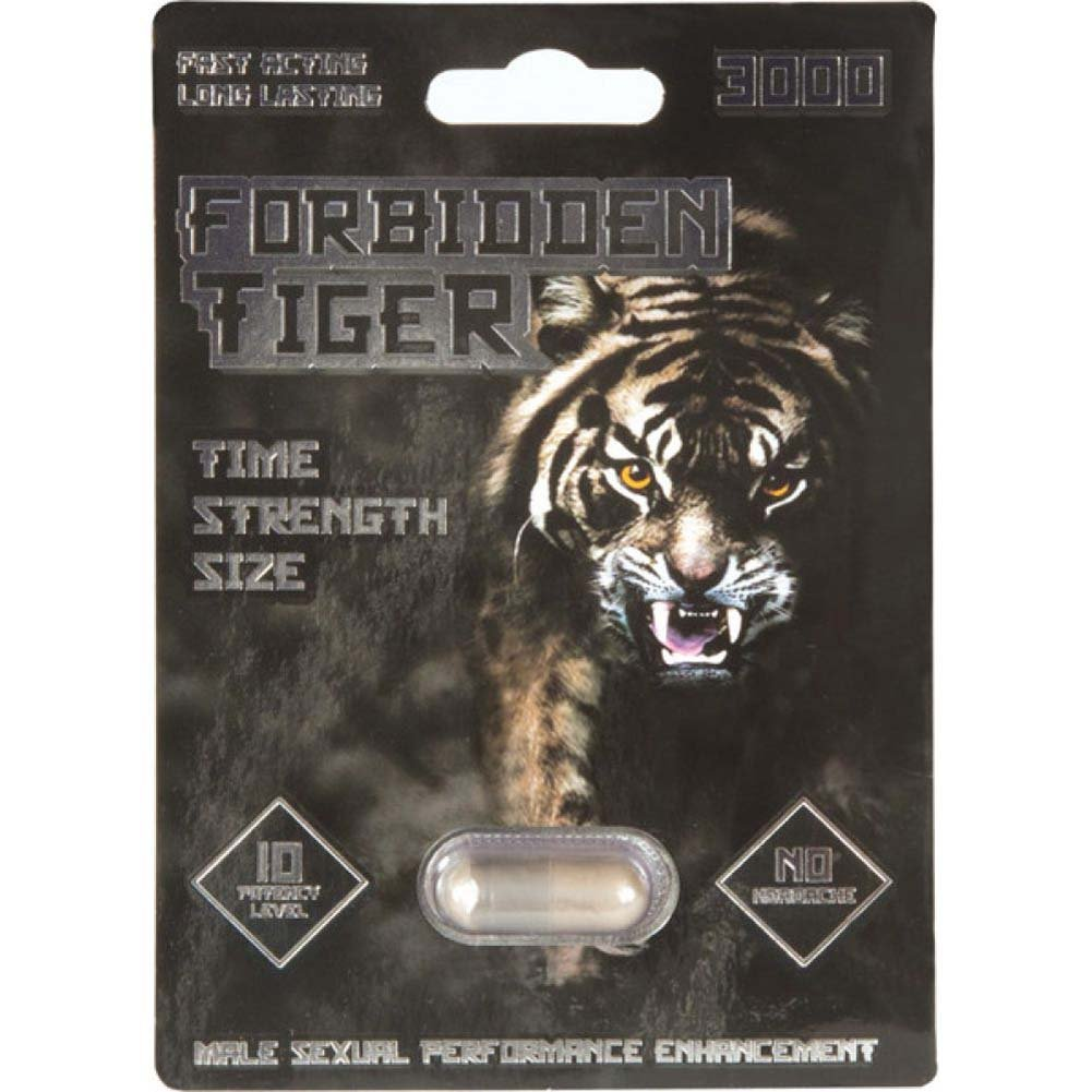 Forbidden Tiger 3000 Male Supplement 1 Capsule Blister - View #1
