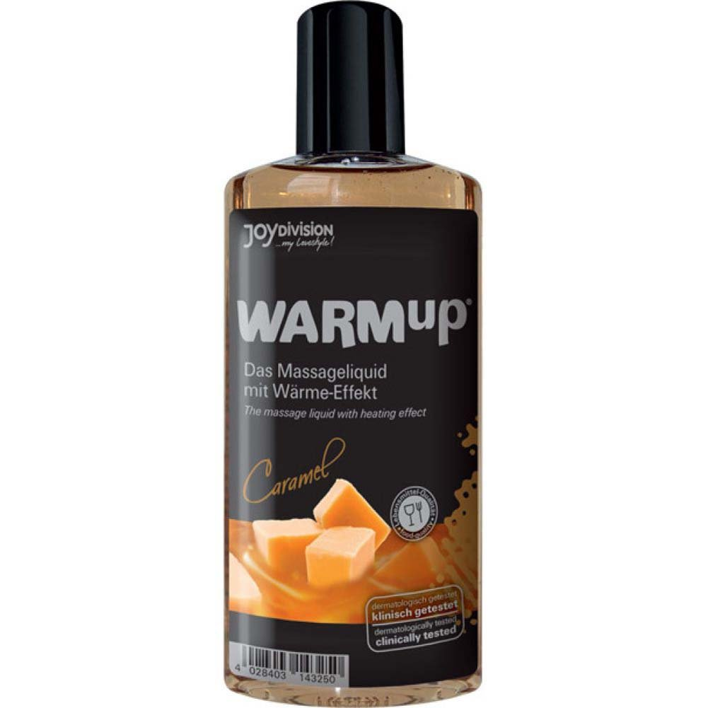 Joydivision Warmup Massage Oil with Heating Effect 5 Fl.Oz 150 mL Caramel - View #1