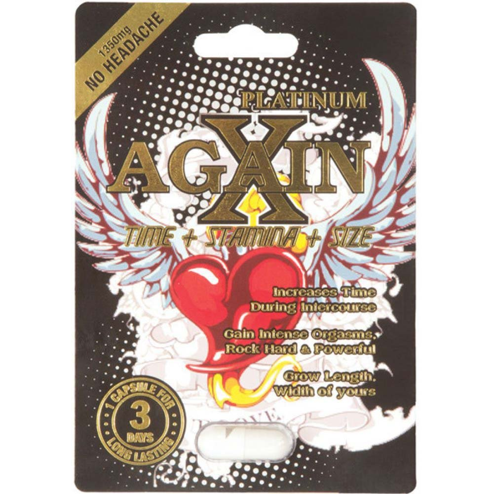 xAgain White Sexual Enhancer for Men 1 Capsule Blister - View #1