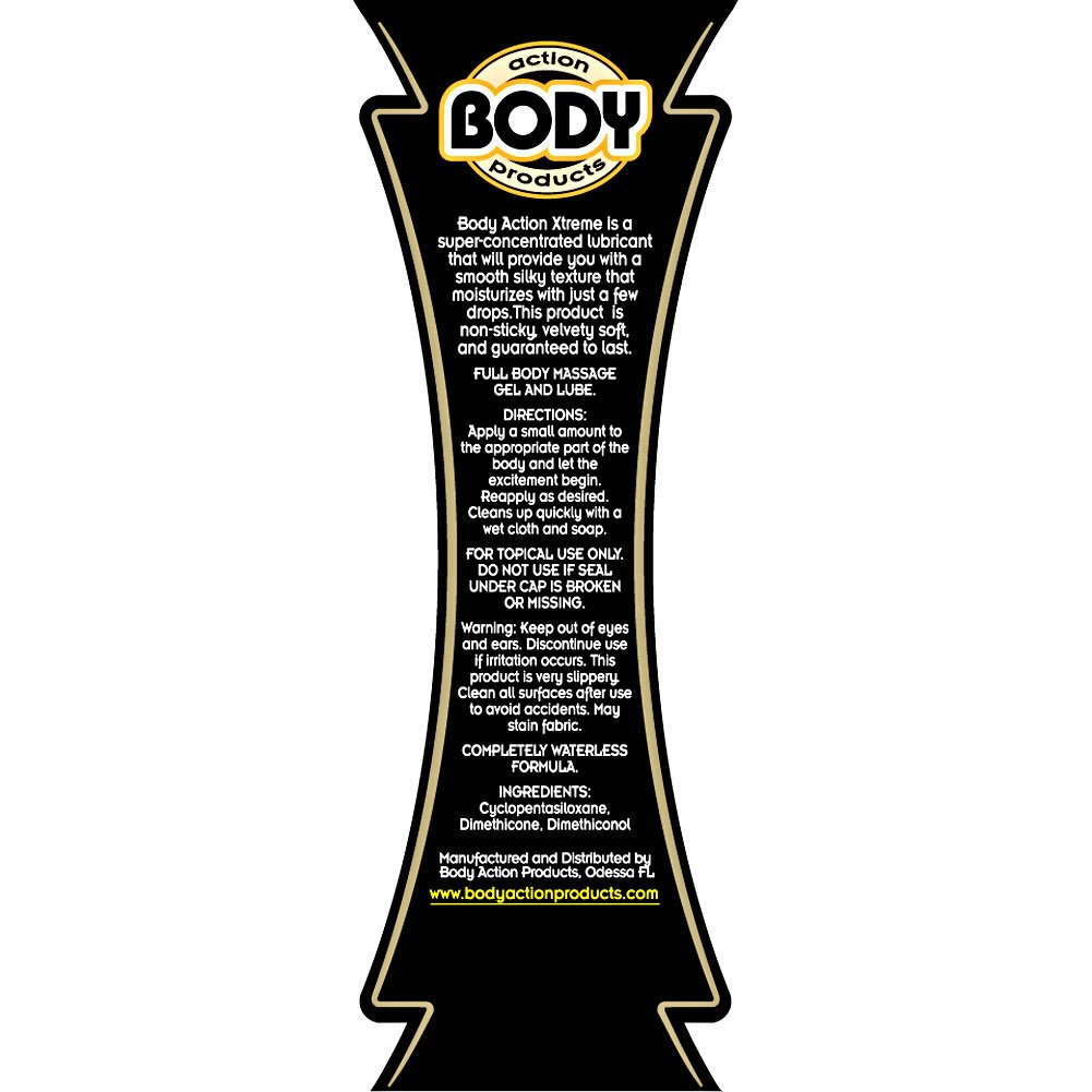 Body Action Xtreme Silicone Personal Lubricant 4.8 Fl.Oz 140 mL - View #1