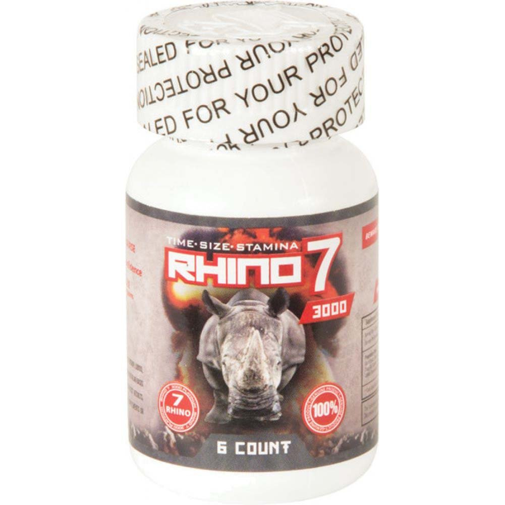 Rhino 7 Platinum 3000 - Bottle of 6 - View #2
