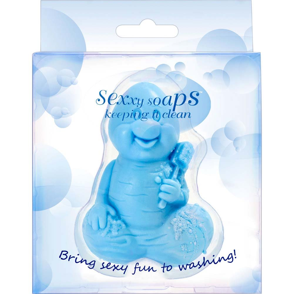 Sexxy Soaps Joyful Junk Soap Cherry Blossom Blue - View #2