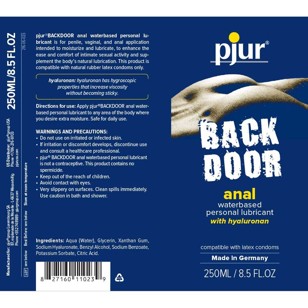 Pjur Back Door Comfort Water Based Anal Glide 8.5 Fl.Oz 250 mL - View #1
