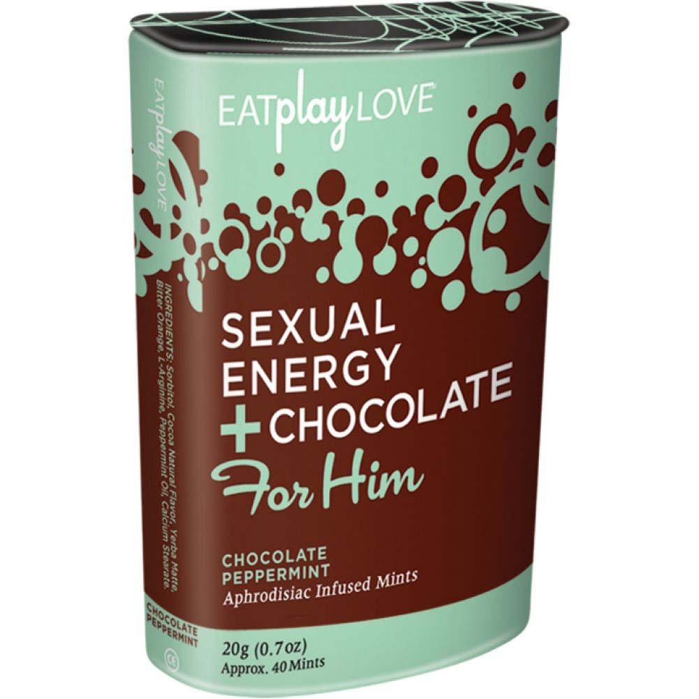 Eat Play Love Sexual Energy Chocolate for Him 1 Oz 20 Mints Peppermint Chocolate - View #1
