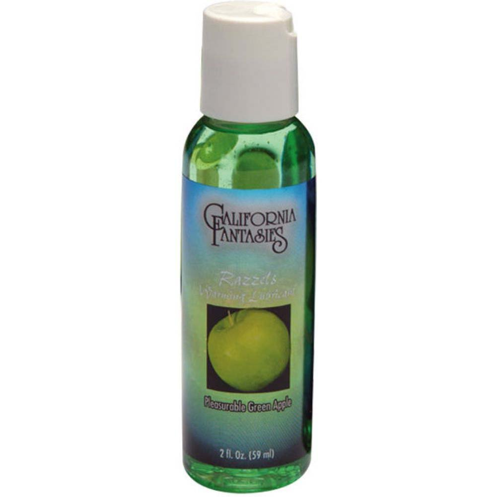 California Fantasies Razzels Warming Intimate Lubricant 2 Fl.Oz 60 mL Pleasurable Green Apple - View #1