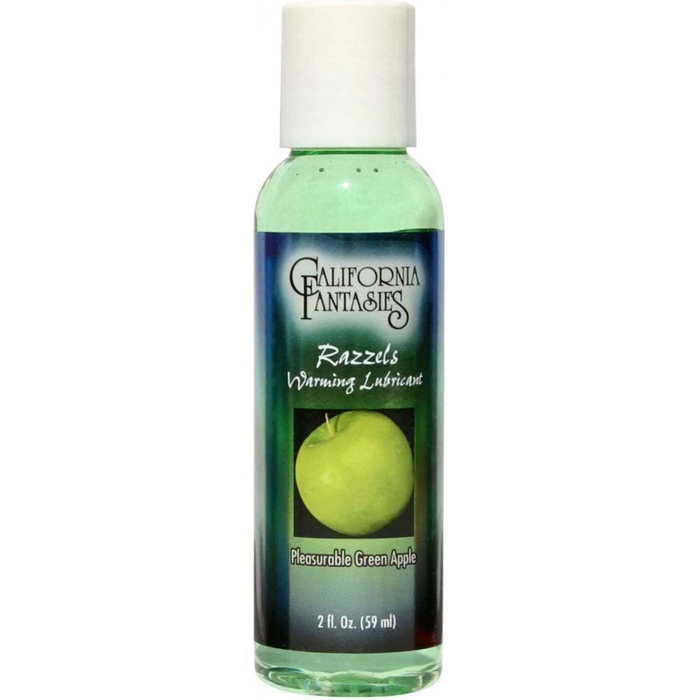 California Fantasies Razzels Warming Intimate Lubricant 2 Fl.Oz 60 mL Pleasurable Green Apple - View #3