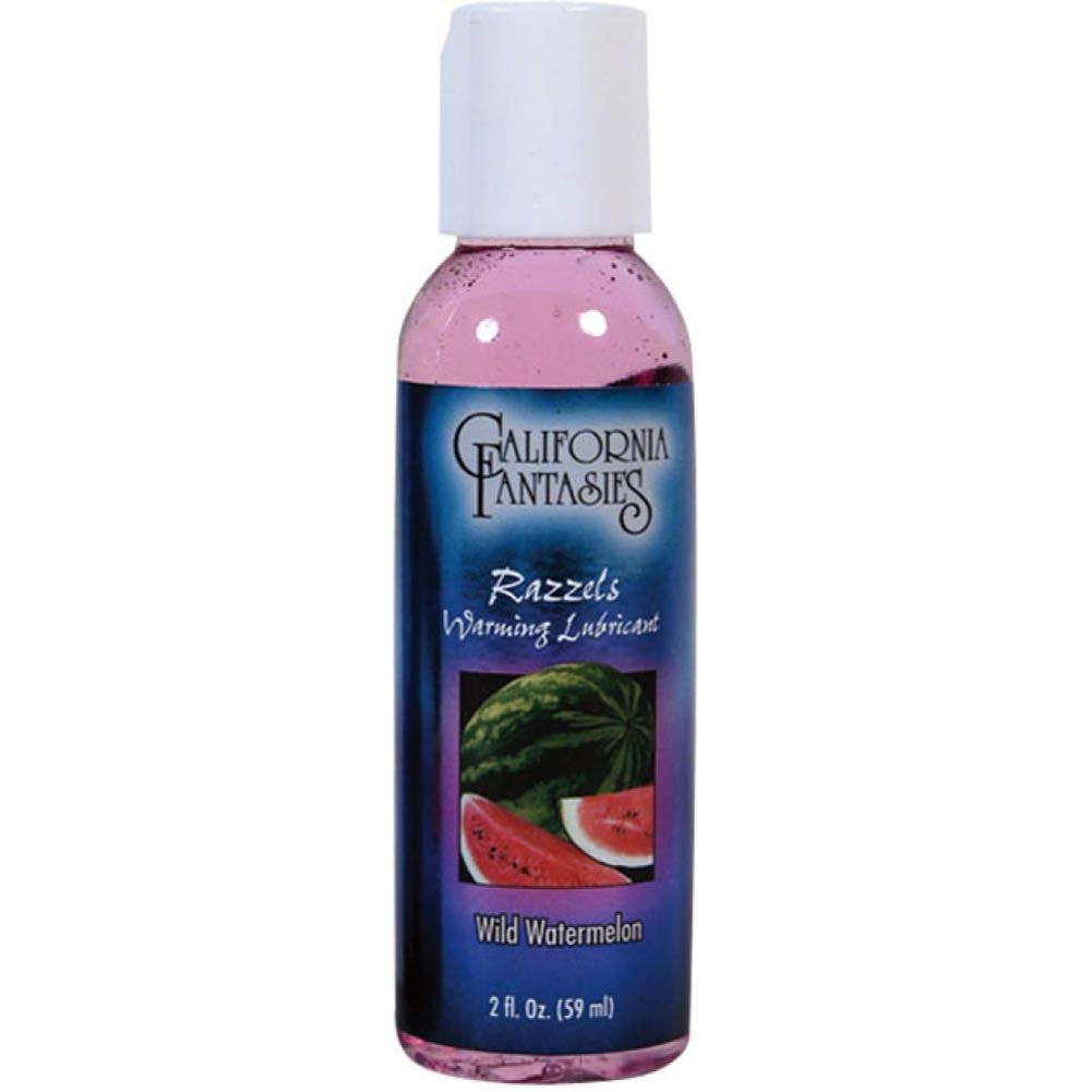 California Fantasies Razzels Warming Intimate Lubricant 2 Fl.Oz 60 mL Wild Watermelon - View #1