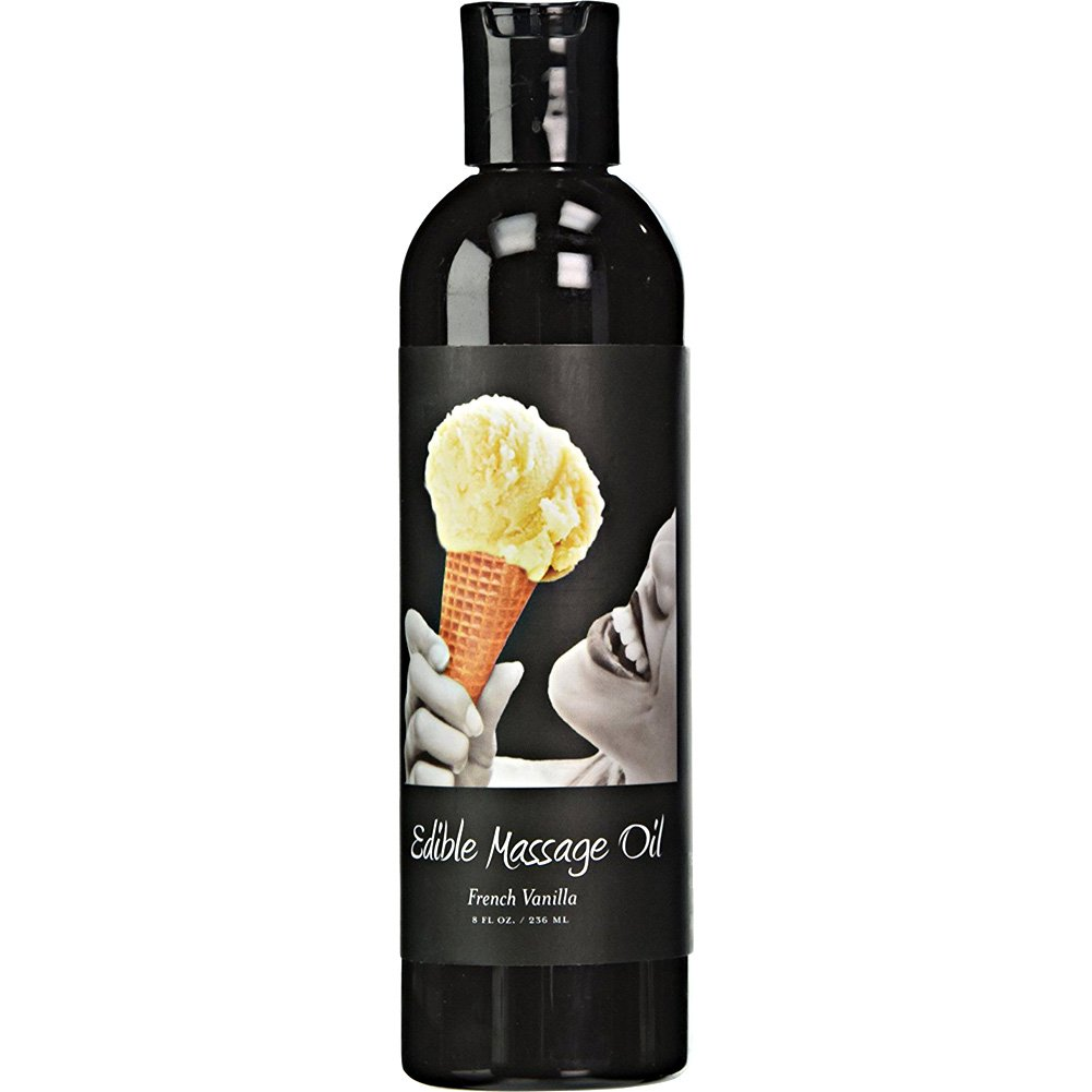 Earthly Body Edible Massage Oil 8 Fl.Oz 236 mL French Vanilla - View #1