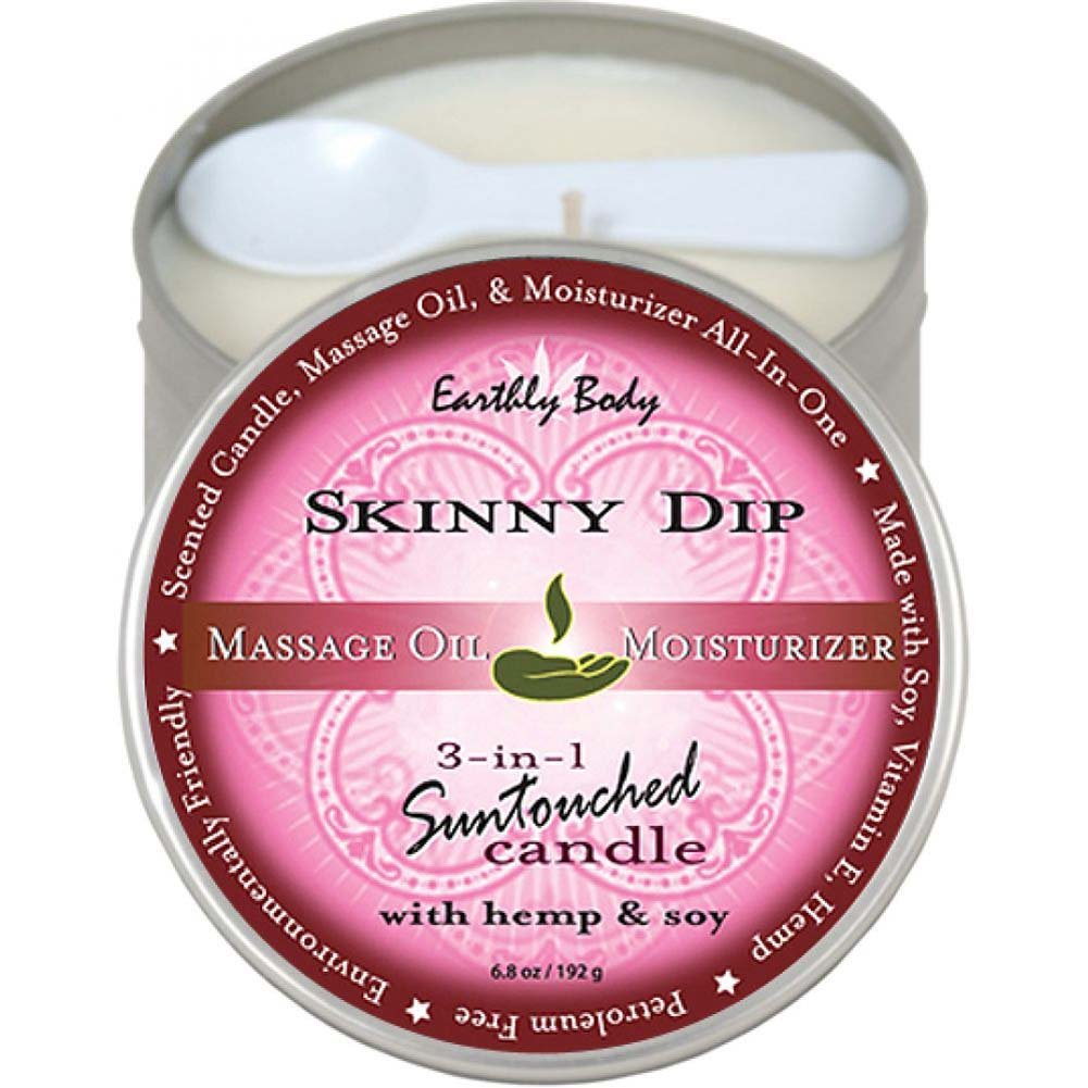 Earthly Body 3-in-1 Suntouched Fragrant Candle With Hemp 6.8 Oz Skinny Dip - View #1
