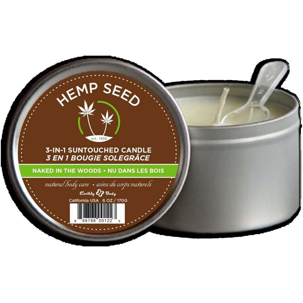 Earthly Body Suntouched Hemp Candle 6.8 Fl. Oz Naked in the Woods - View #2