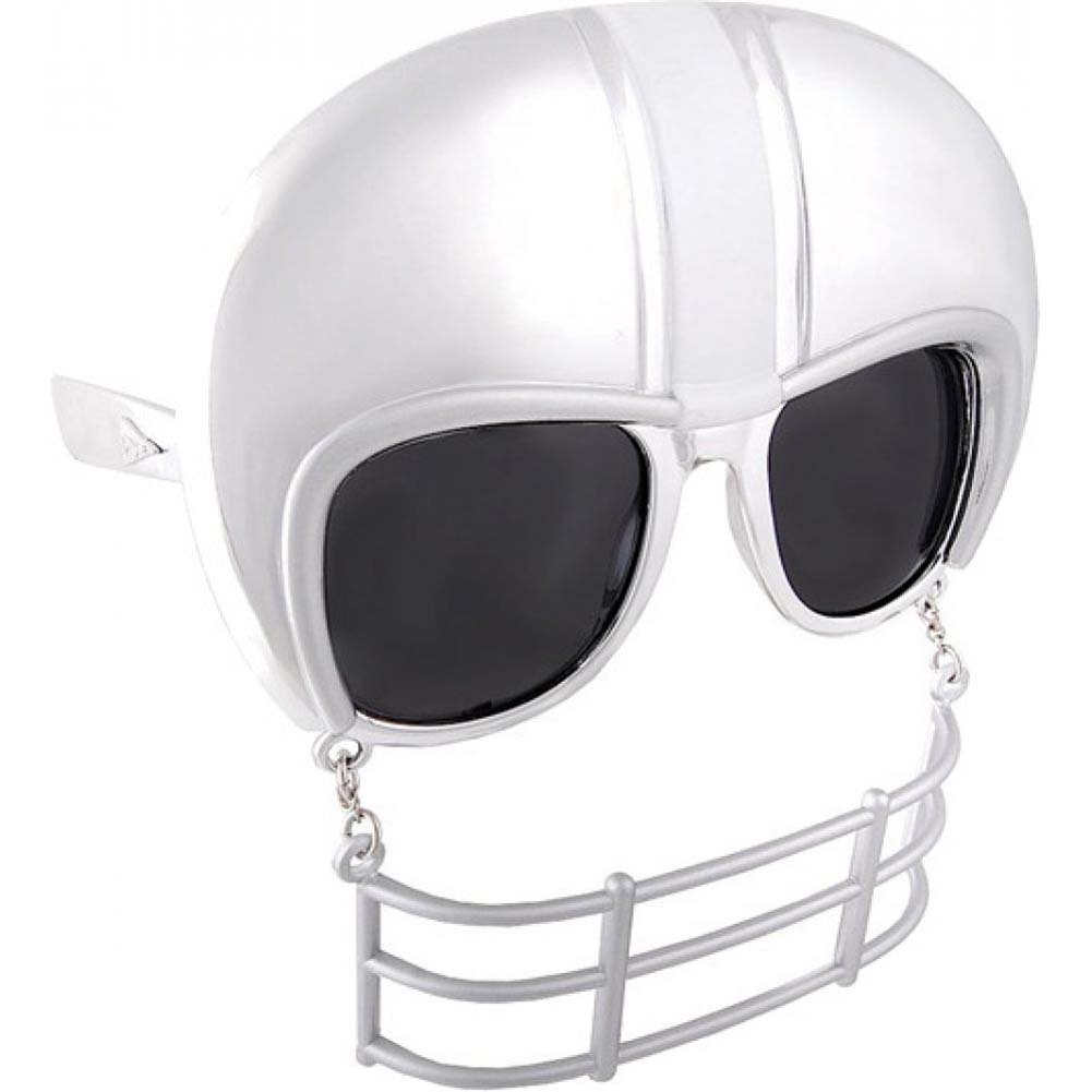 Sun Staches Sunglasses with an Attached Moustache Football Helmet - View #1