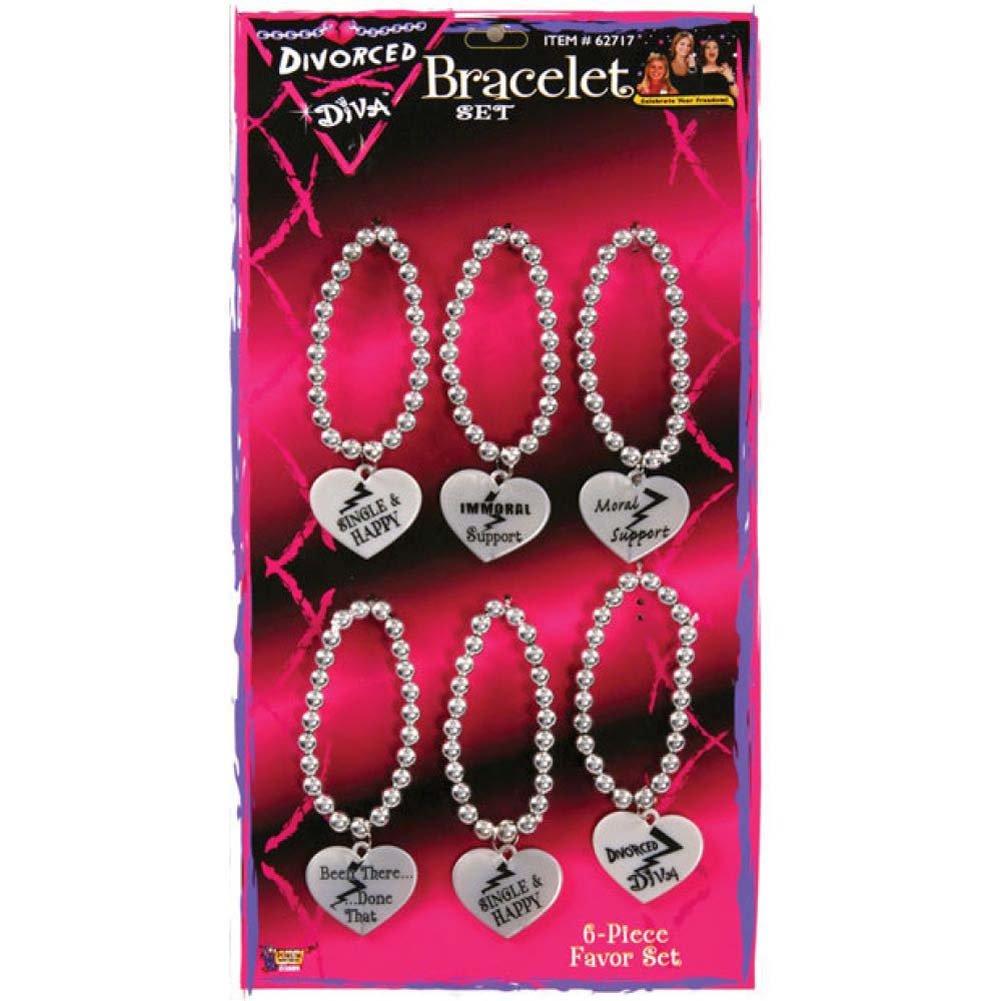 Divorced Diva Bead Bracelets Set 6 Pack - View #1